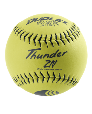 USSSA THUNDER ZN CLASSIC-M STAMP SLOWPITCH SOFTBALL - 12 PACK