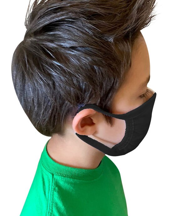 Kid's Reusable Cotton Face Mask Non-Medical, 5 Pack Black