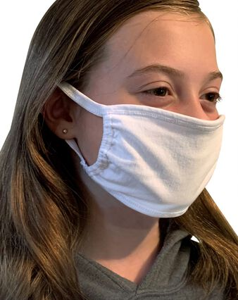 Kid's Reusable Cotton Face Mask Non-Medical, 5 Pack