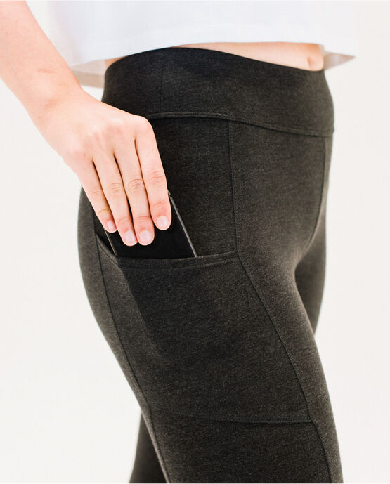 Women's 25.5 Legging with Pockets Charcoal Heather Medium CHARCOAL HEATHER