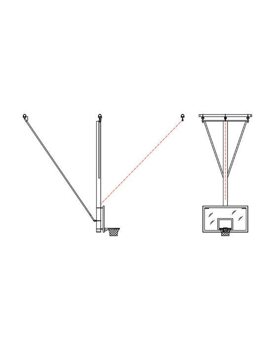 Gliding Rear-Braced Ceiling Mast