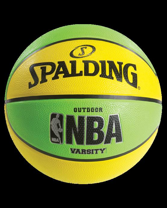 NBA Varsity Multi-Color Outdoor Basketball -  Neon Green & Yellow Neon Green/Yellow