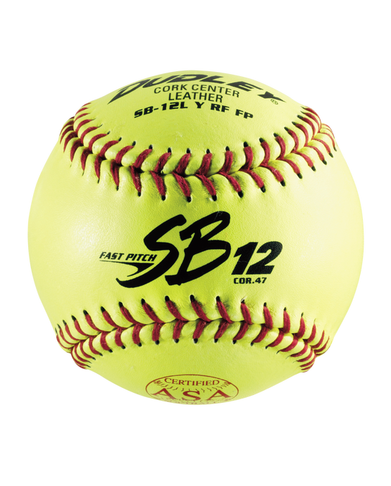 "12"" ASA SB12L FASTPITCH SOFTBALL - 12 PACK"