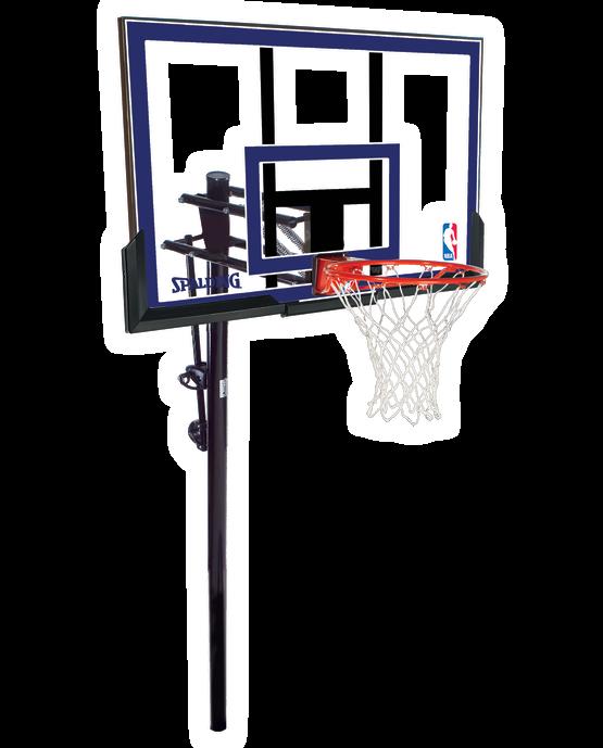 "Exactaheight™ 50"" Polycarbonate In-Ground Basketball Hoop"