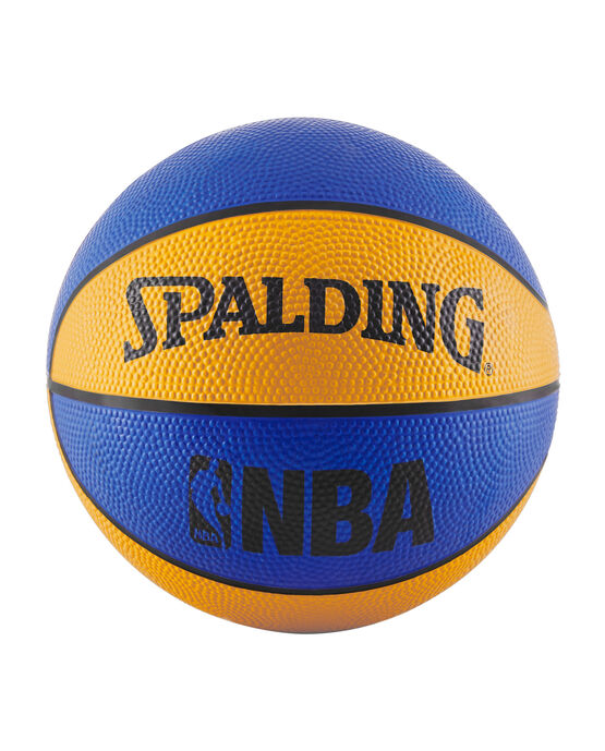 NBA Mini Blue and Orange Rubber Outdoor Basketball blue/orange