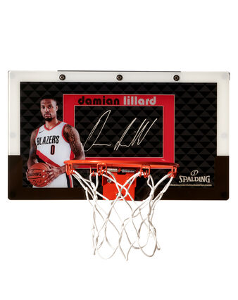 Limited Edition Damian Lillard Over-the-Door Mini Basketball Hoop