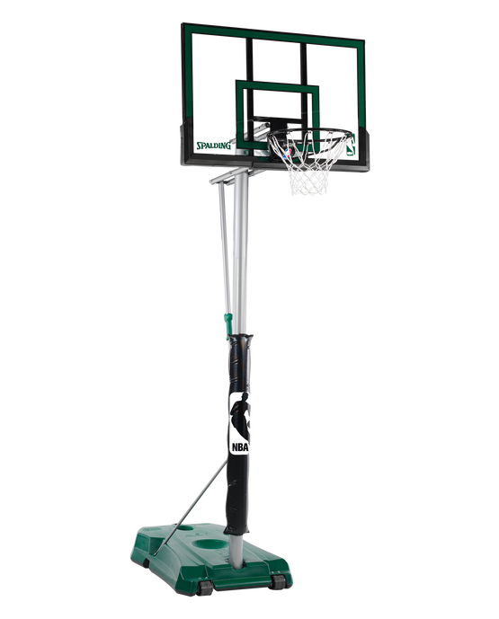 "Hercules® Pro Glide Advanced Portable Basketball Hoop System - 52"" Acrylic Green"
