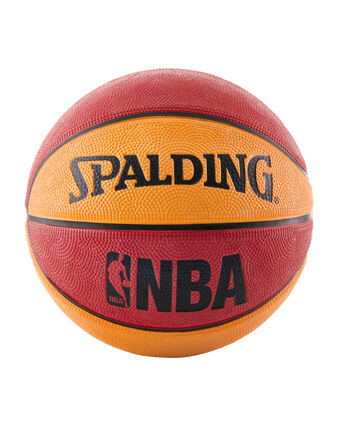 NBA Mini Red and Orange Rubber Outdoor Basketball