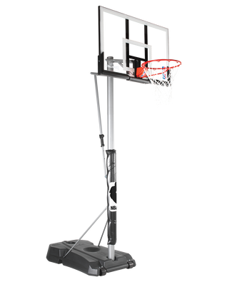 "Hercules® Pro Glide Advanced Portable Basketball Hoop System - 52"" Acrylic"