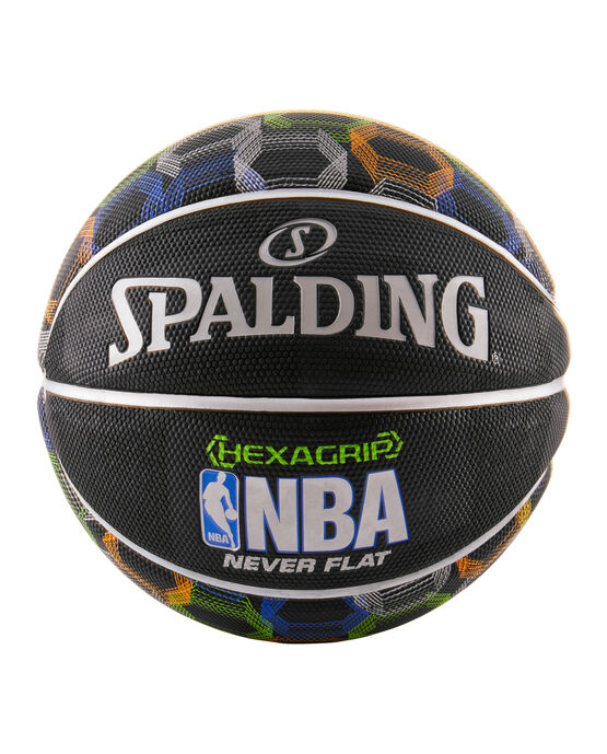 NBA Neverflat® Hexagrip™ Black Basketball With Graphic black