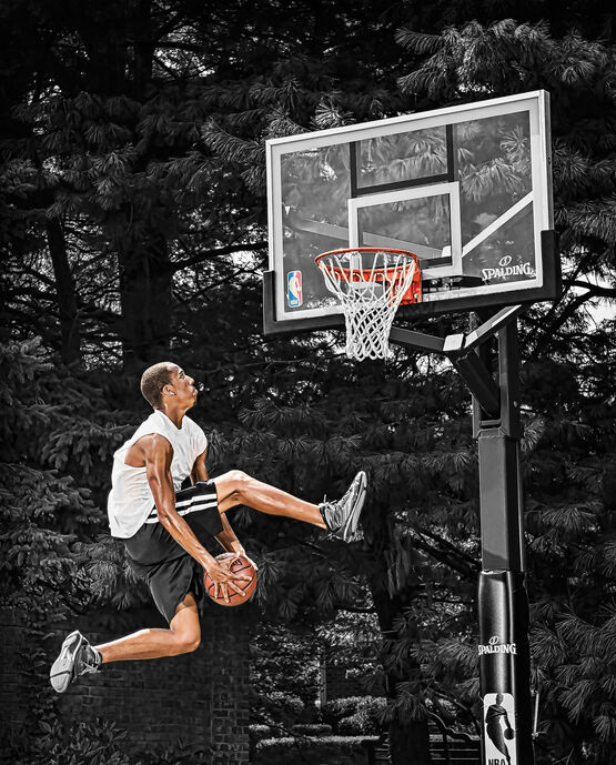 """Arena View® H Series 60"""" Glass In-Ground Basketball Hoop"""