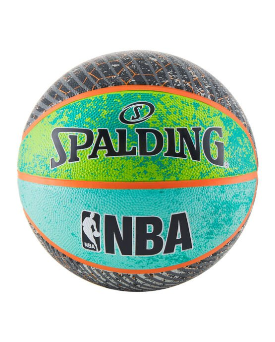 NBA Designer Collection Green/Blue/Gray Outdoor Basketball - 29.5""
