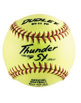 "11"" NON-ASSOCIATION THUNDER SY FASTPITCH SOFTBALL - 12 PACK"