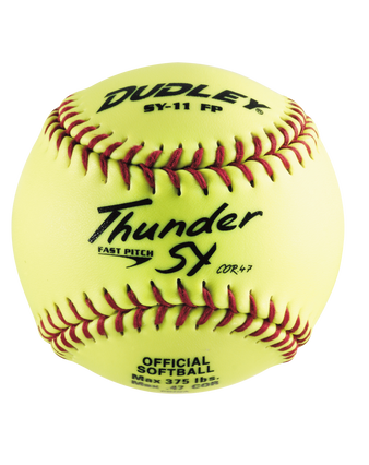 """11"""" NON-ASSOCIATION THUNDER SY FASTPITCH SOFTBALL - 12 PACK"""
