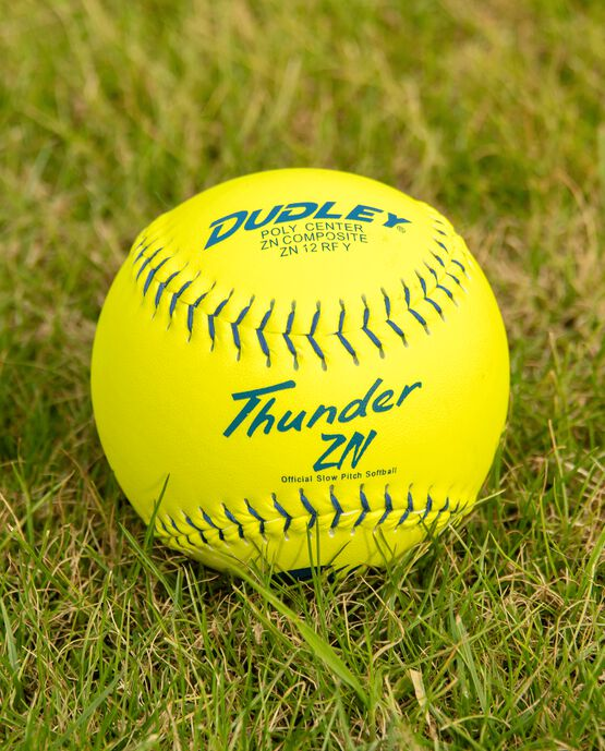 """12"""" USSSA THUNDER ZN CLASSIC-M STAMP SLOWPITCH SOFTBALL - 12 PACK"""