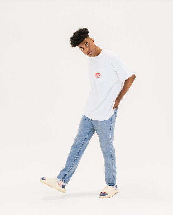 Men's Cotton Logo Short Sleeve T-Shirt White Medium WHITE