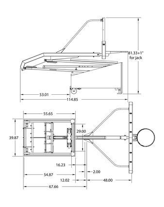 "Spalding® 2500 72"" Glass Portable Basketball Hoop"
