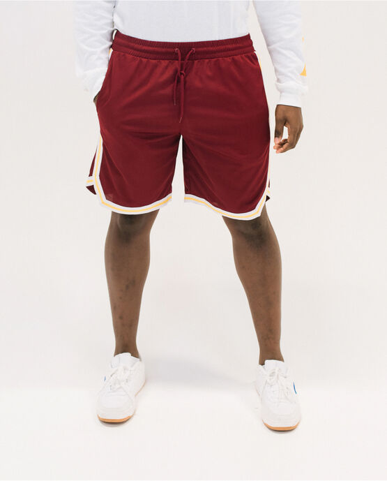 Men's 1876 Woven Patch Basketball Short Maroon Large MAROON/CANARY