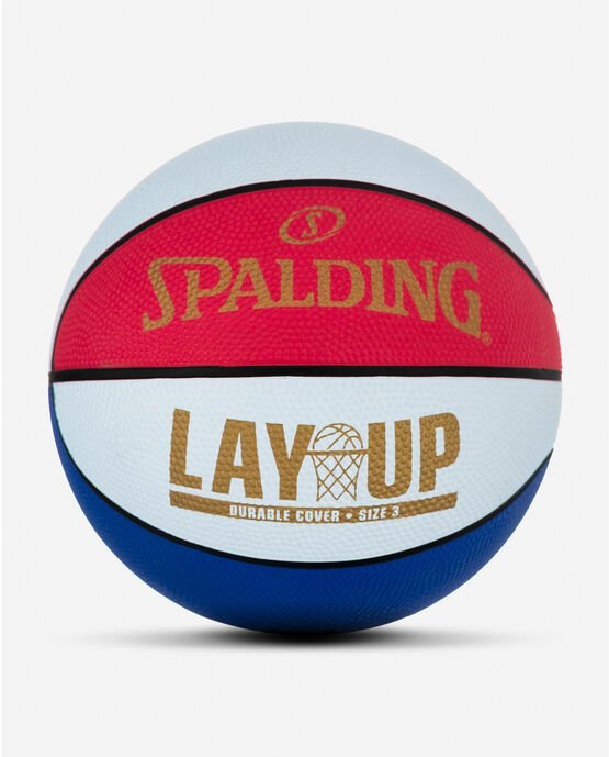 """Layup Mini Red/White/Blue Rubber Outdoor Basketball 22"""" Red/White/Blue"""