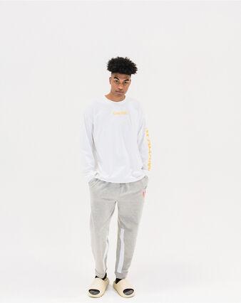 Men's Cotton 1876 Woven Patch Logo Long Sleeve T-Shirt