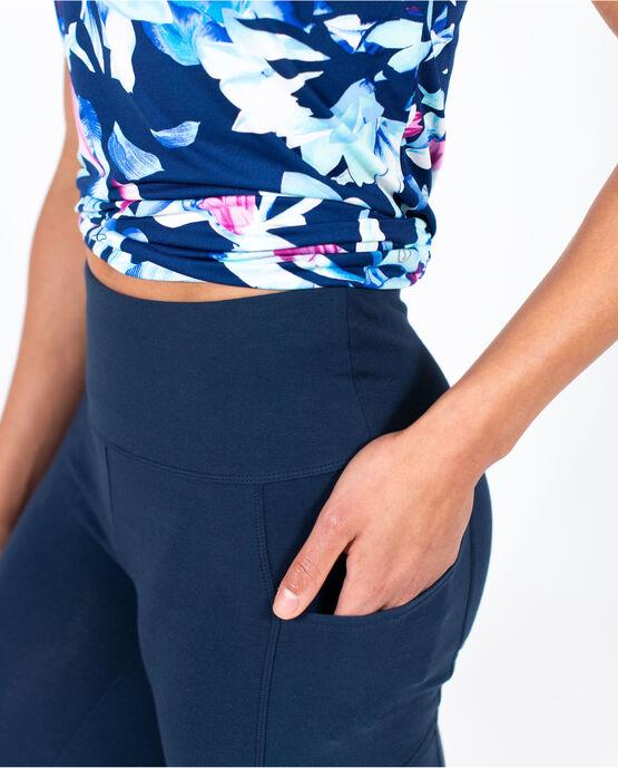 """Women's 19"""" Capri Legging with Pockets Navy Blazer Medium NAVY BLAZER"""