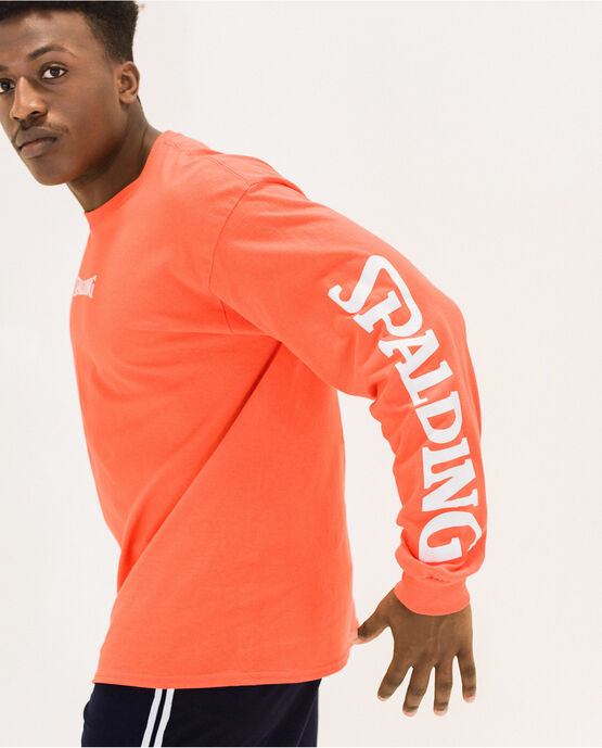 Men's Cotton Logo Long Sleeve T-Shirt Hunter Orange XS HUNTER ORANGE