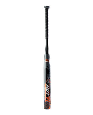 "Lightning Legend HOTW 14"" Barrel Senior Slowpitch Softball Bat - Black/Orange"
