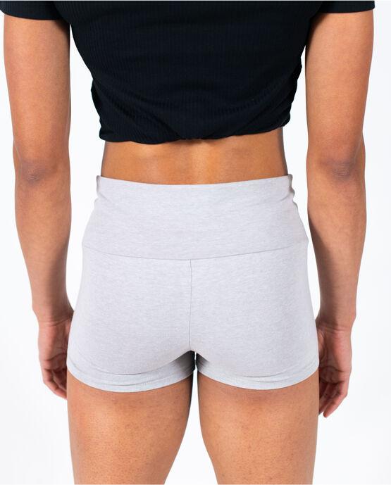 "Women's 3"" Cotton Gym Short Heather Grey Large HEATHER GREY"