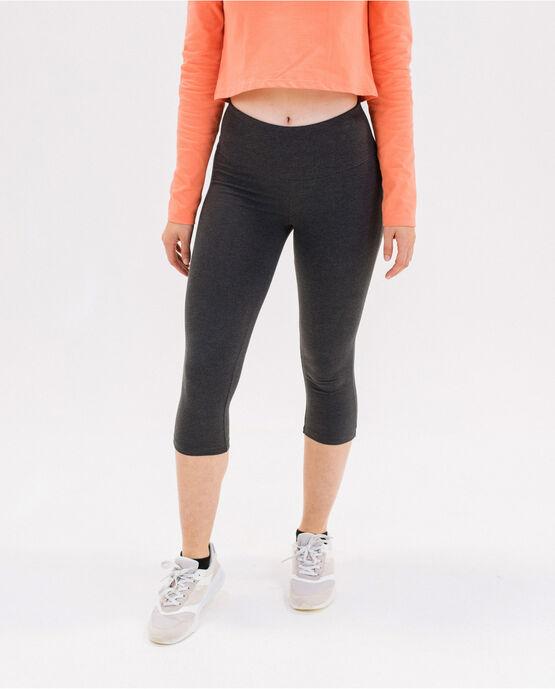 "Women's 19"" Capri Legging Charcoal Heather Large CHARCOAL HEATHER"