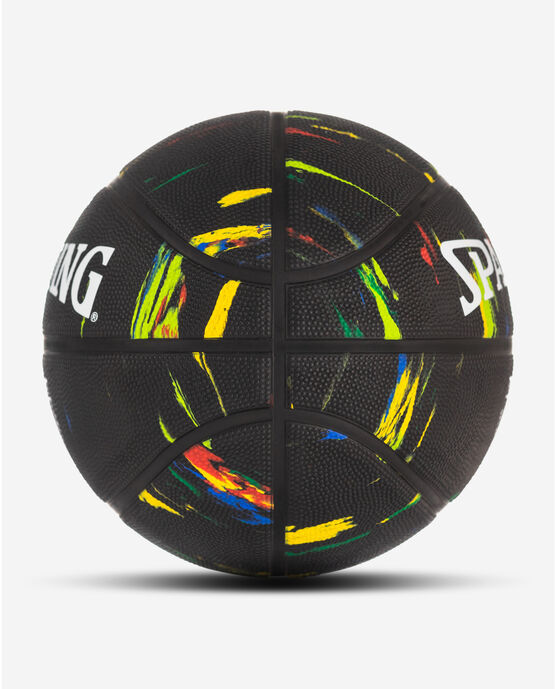 """Marble Series Black Multi-Color Outdoor Basketball - 29.5"""""""