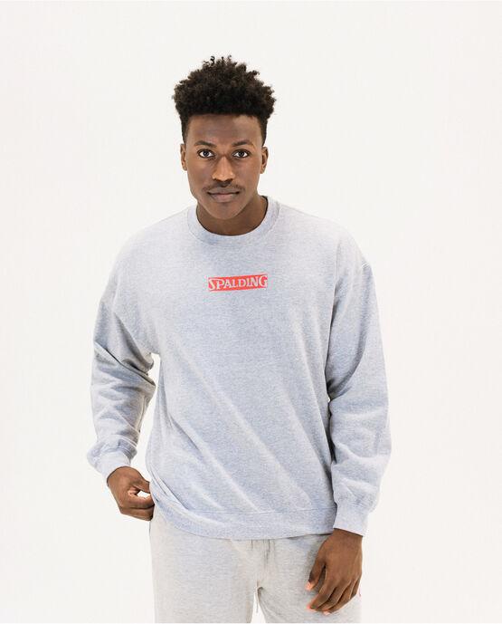 Men's Cotton Logo Fleece Sweatshirt Heather Gray Medium HEATHER GRAY