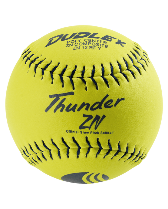 USSSA THUNDER ZN STADIUM STAMP SLOWPITCH SOFTBALL - 12 PACK