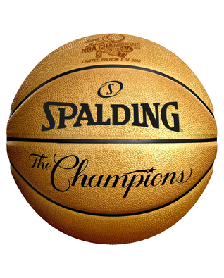 Limited Edition Golden State Warriors Authentic 2018 NBA Champions Commemorative Basketball