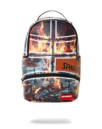 Sprayground x Spalding 94 Series Fire Money Backpack