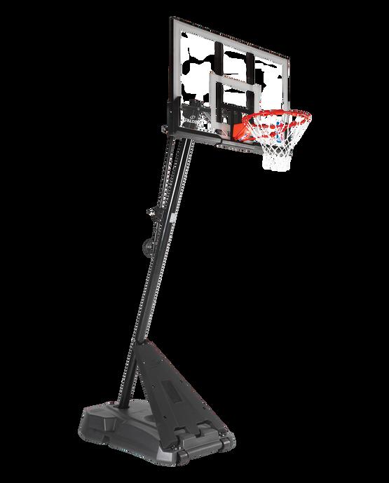 "Hercules® 50"" Acrylic Portable Basketball Hoop - Angled Pole"
