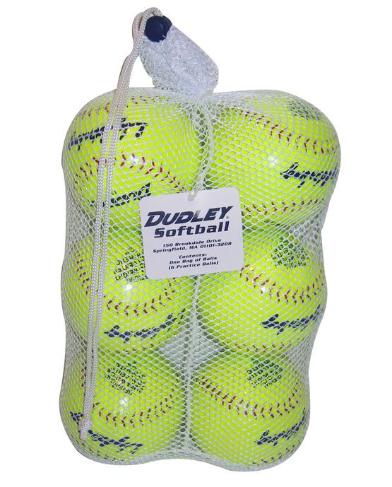 BAG OF SLOWPITCH SOFTBALLS-6 Pack
