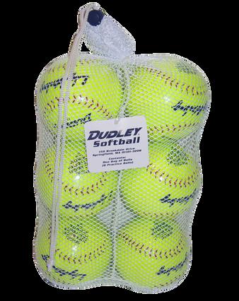 BAG OF SLOWPITCH SOFTBALLS-6 Pack