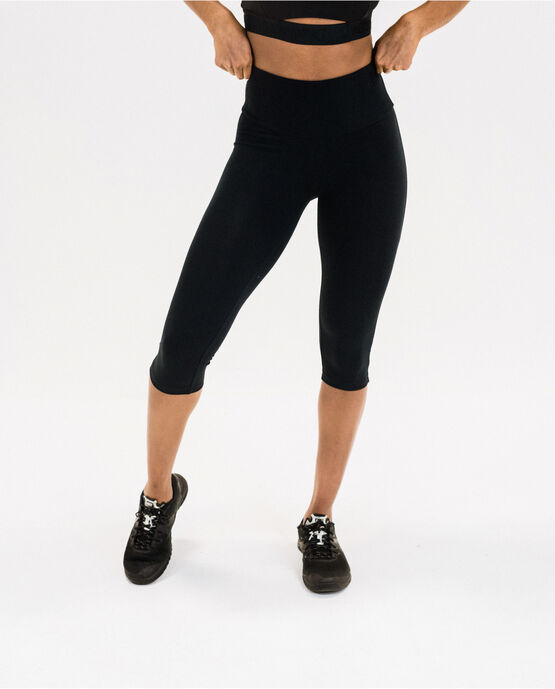 "Women's 17"" Capri Legging Black Large BLACK"
