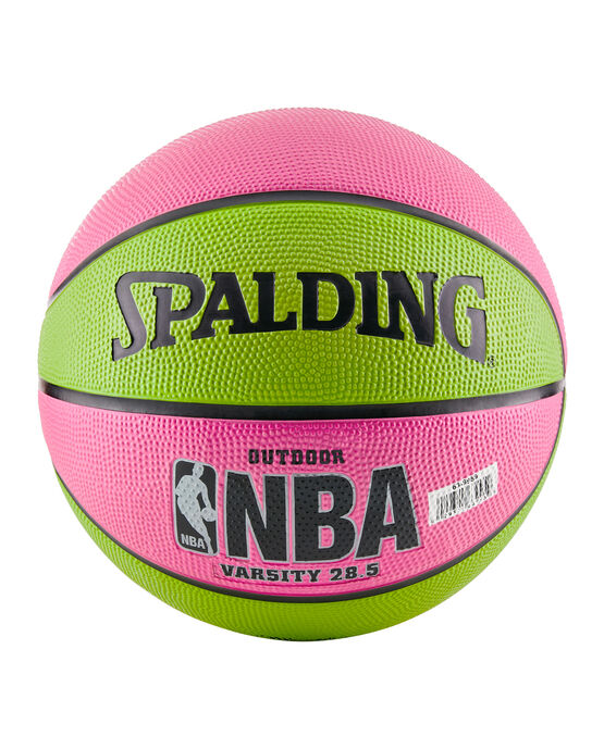 "NBA Varsity Multi-Color Outdoor Basketball - 28.5"" - Pink and Green pink/green"