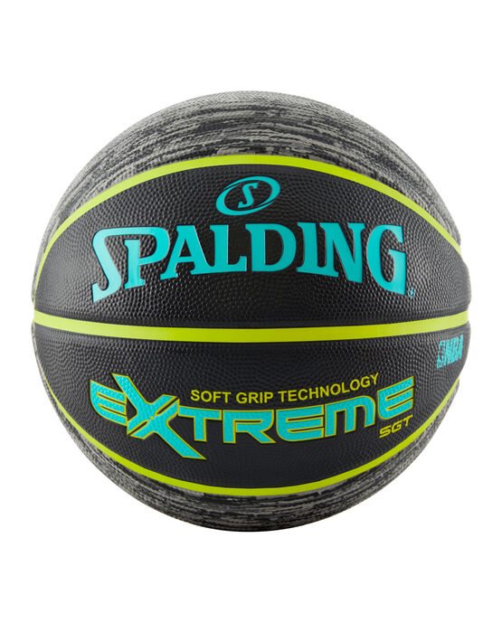 NBA Extreme Pattern Series Black and Green Outdoor Basketball - 29.5""