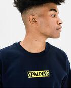 Men's Cotton Logo Fleece Sweatshirt Peacoat XS PEACOAT