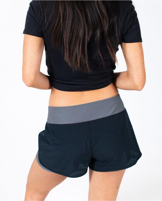 Women's Mesh Overlay Performance Short Black Medium BLACK