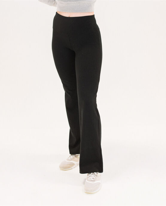 "Women's 31.5"" Bootcut Yoga Pant with Waistband Pocket Black Small BLACK"