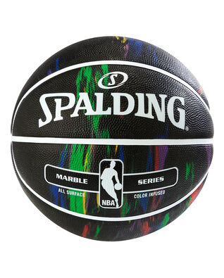 NBA Marble Series Black Multi-Color Outdoor Basketball