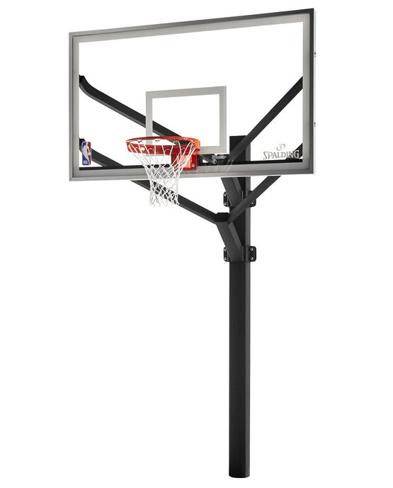 "Arena View® Series 72"" Acrylic Fixed Height In-Ground Basketball Hoop"