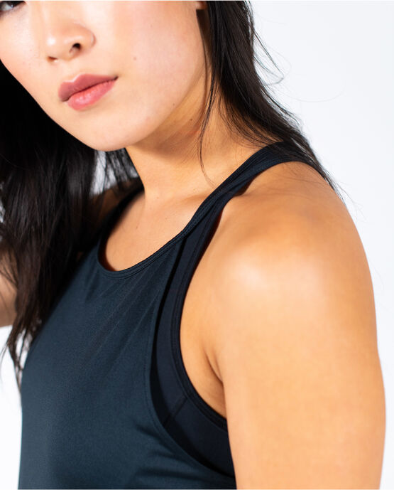 Women's Shirred Side Tank Black XS BLACK