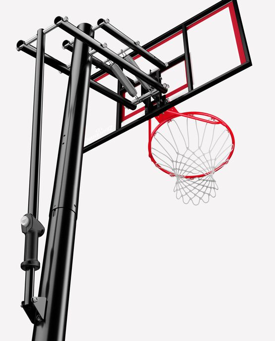 "Spalding 44"" Shatter-proof Polycarbonate Pro Glide® Lite In-Ground Basketball Hoop"