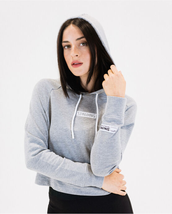 Women's Super Soft Cropped Hoodie Heather Gray Small HEATHER GRAY