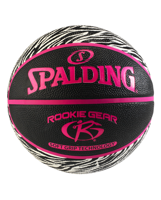 Rookie Gear® Soft Grip Youth Indoor/Outdoor Basketball Zebra Print