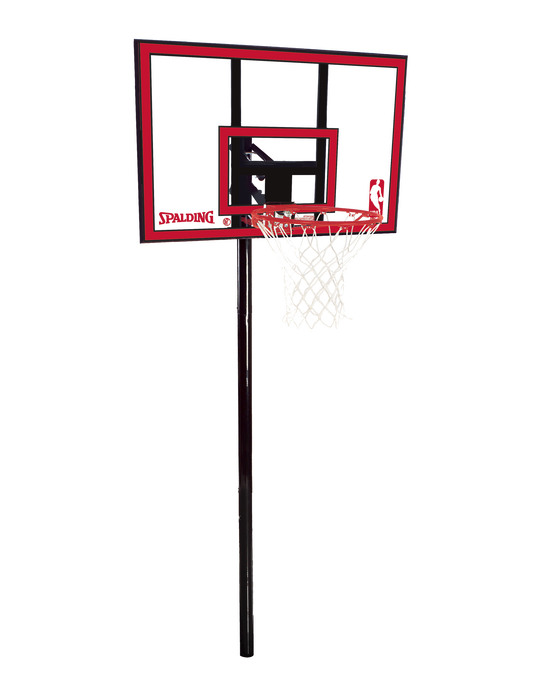 """Ratchet Lift In-Ground Basketball Hoop System - 44"""" Polycarbonate"""